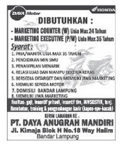 Recruitment PT. Daya Anugrah Mandiri