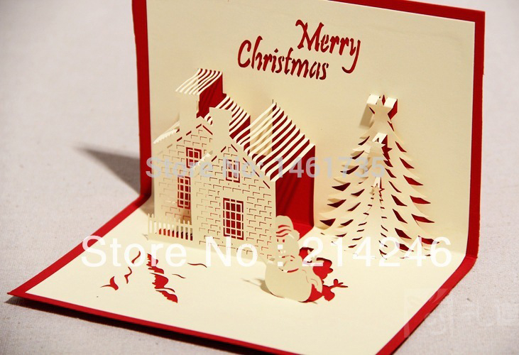 creative christmas postcards 3d greeting card handmade christmas