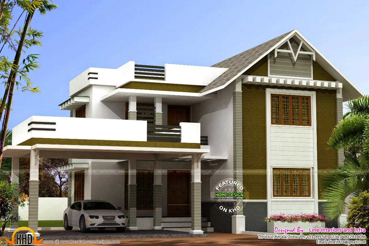 4 Bedroom Mixed Roof Home Part - 29: Design Style : Mixed Roof. Home Design