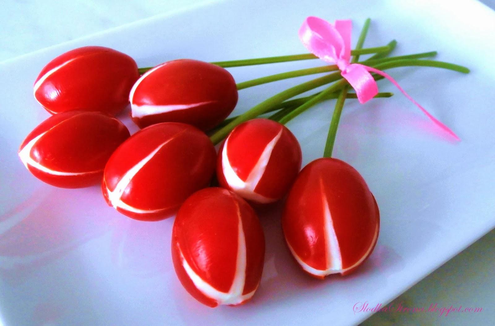 Tulipany z Pomidorków Koktajlowych