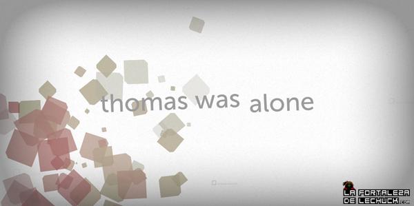Entrada del videojuego Thomas Was alone