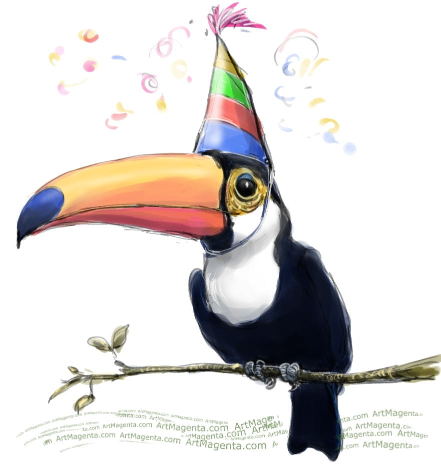 A Party Toucan by Artmagenta