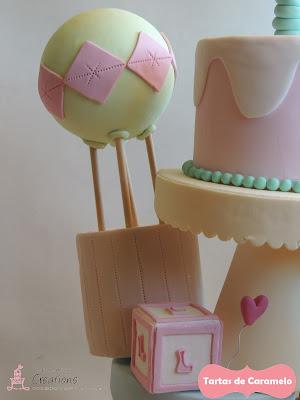 tarta de los ositos traviesos: me voy en globo!