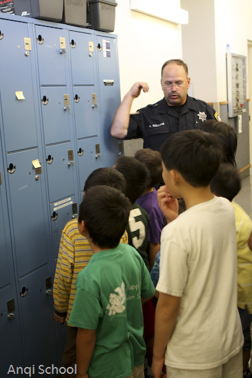 anqischool-Newark Policedepartment