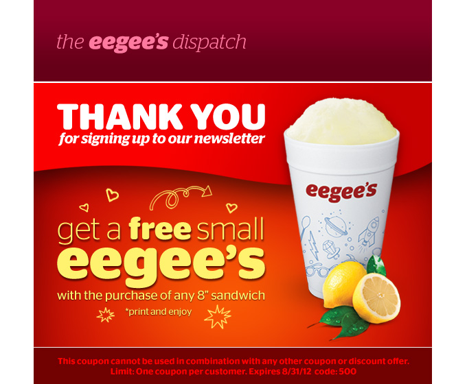 Eegees discount coupons