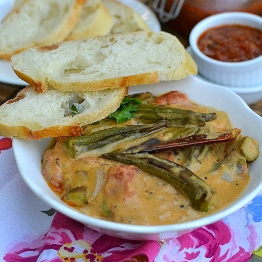 Dahi Bhindi (Okra in Yogurt Sauce)