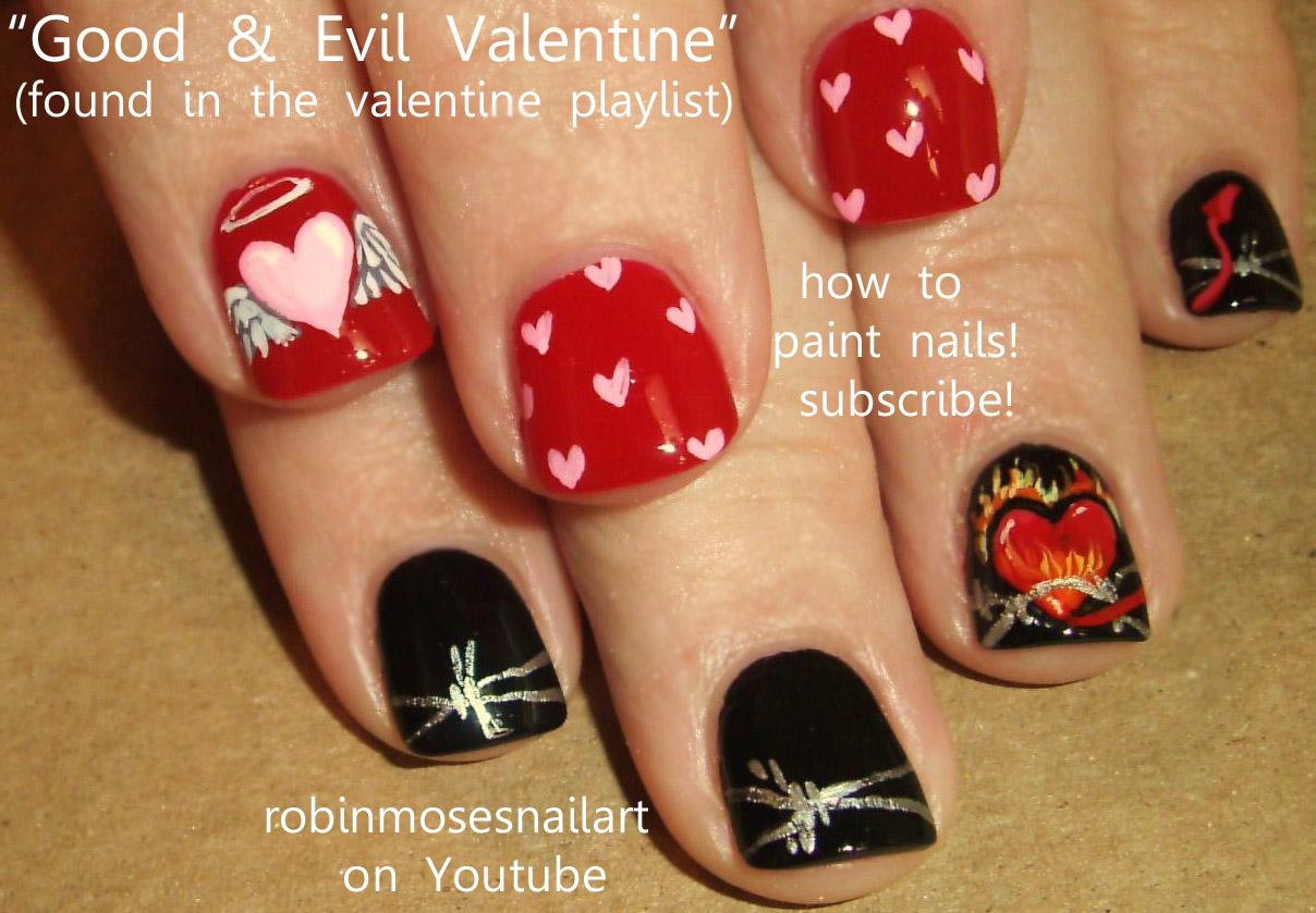 Robin moses nail art gum machine nail bubble gum nail gumball good evil valentine nails angel and devil prinsesfo Choice Image