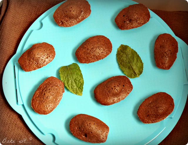 mint chocolate madeleines recipe | Halal Home Cooking