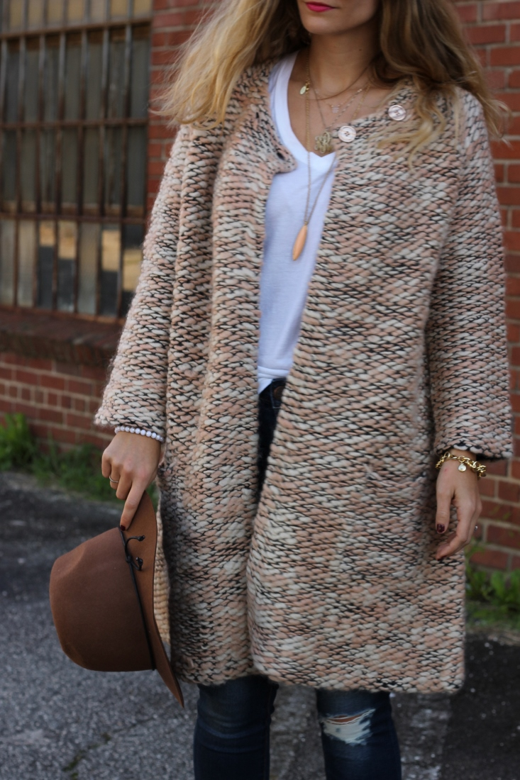 Target Fedora with Chunky Knit Sweater