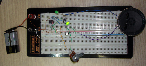 circuito metrnomo protoboard