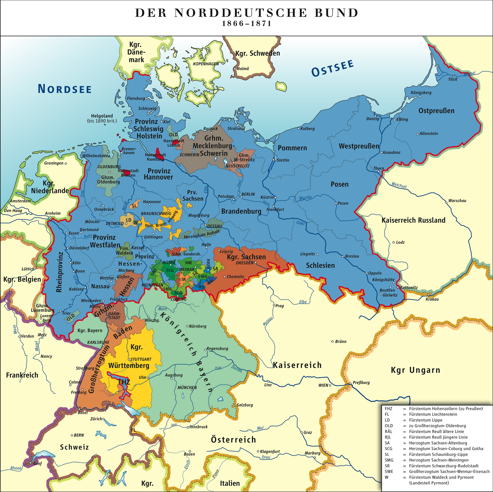 Germany: North German Confederation 1866-71