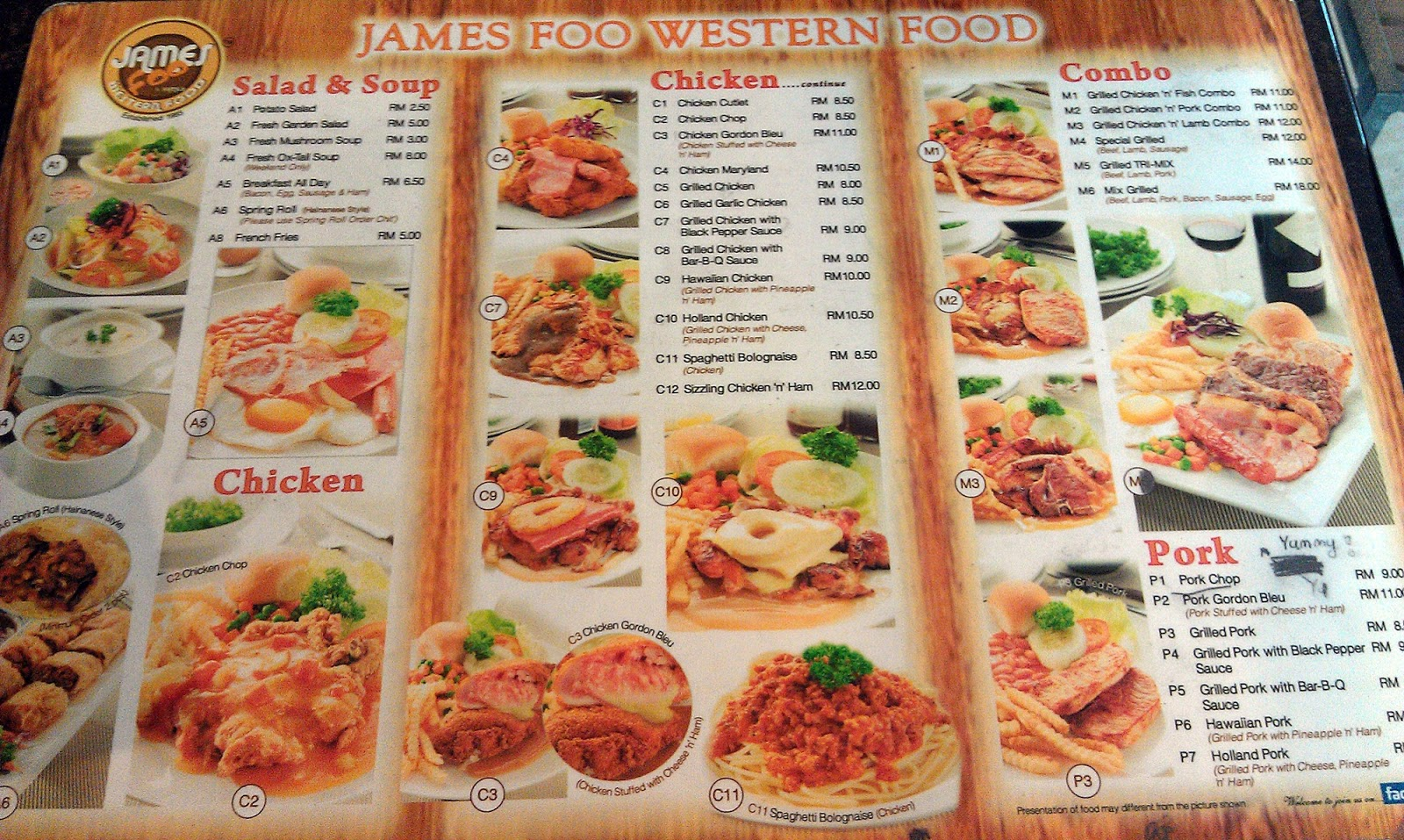 Jen penang inexpensive western food james foo family western my boyfriend told me that the menus for lunch and dinner are different so heres the menu for food during dinner time i went twice for dinner forumfinder Gallery