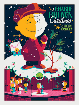 Peanuts &#8220;A Charlie Brown Christmas&#8221; Variant Edition Screen Print by Tom Whalen