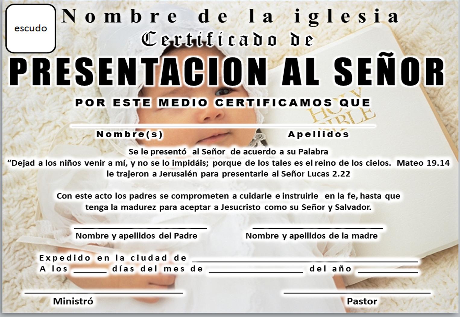 MAR ABIERTO: CERTIFICADO DE PRESENTACIÓN DE NIÑOS PARA DESCARGAR