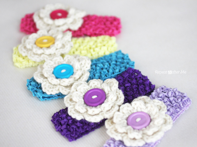 Crochet Hair Clips Pinterest : Crochet Hair Clips - Repeat Crafter Me