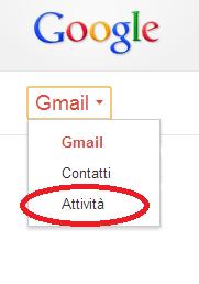 Mostrare le attività in Gmail