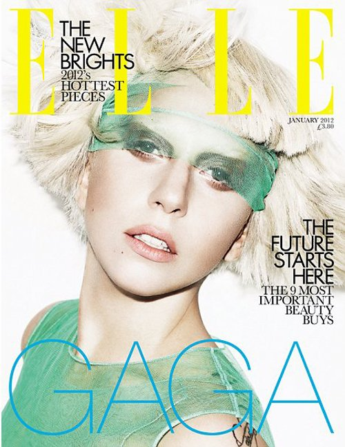 Lady GaGa Covers ELLE UK Magazine!