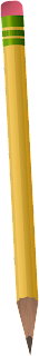 A drawing of a yellow #2 pencil.