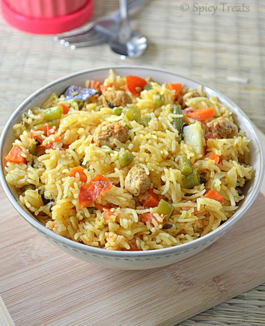 Spicy Treats: vegetable biryani