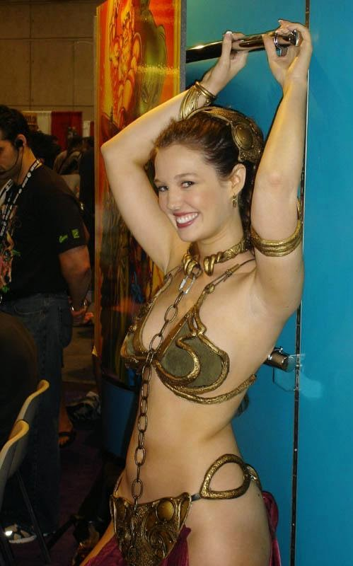 Christy Marie as Slave Leia (Princess of Alderaan)
