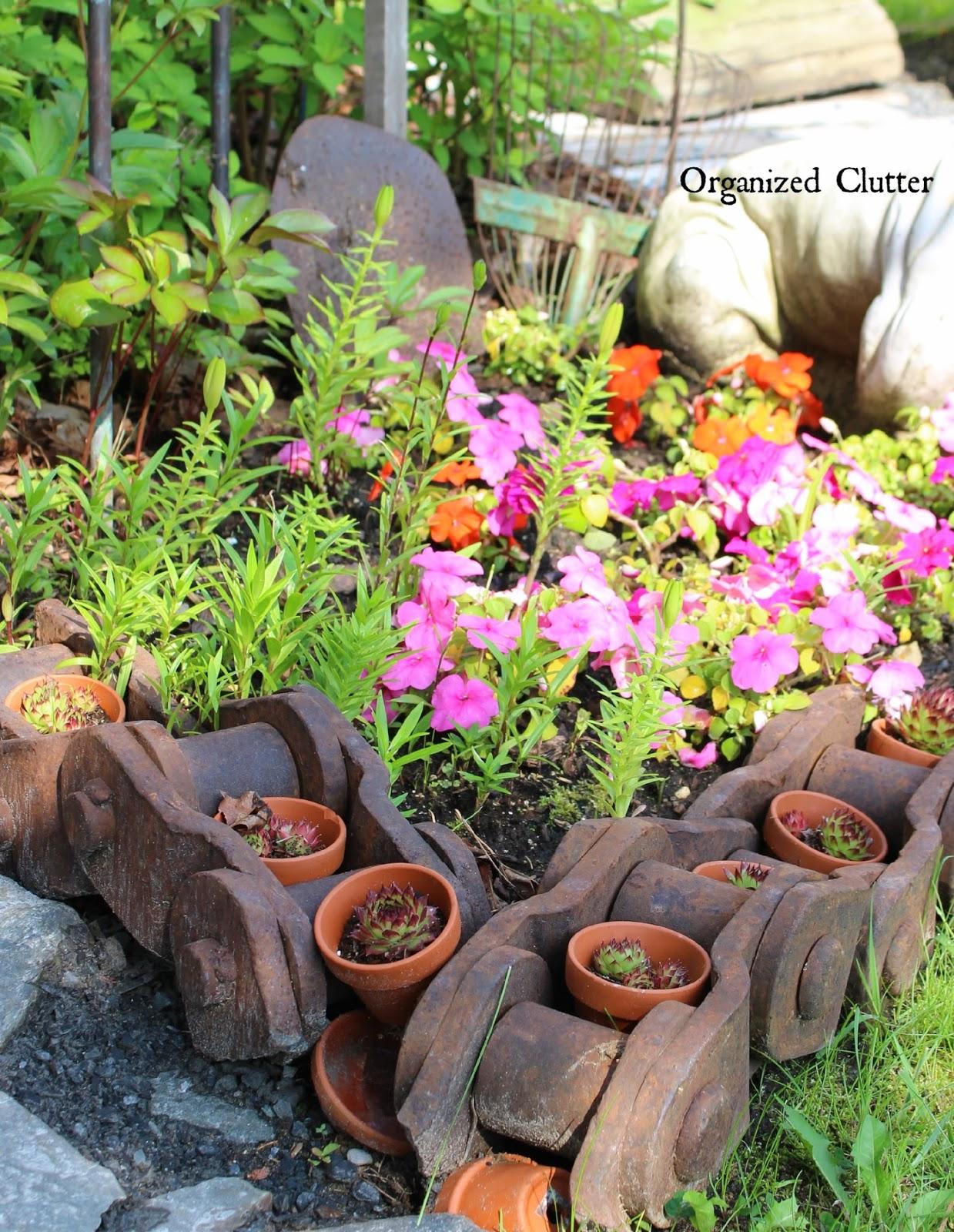 Rusty Industrial Junk Garden Decor | Organized Clutter