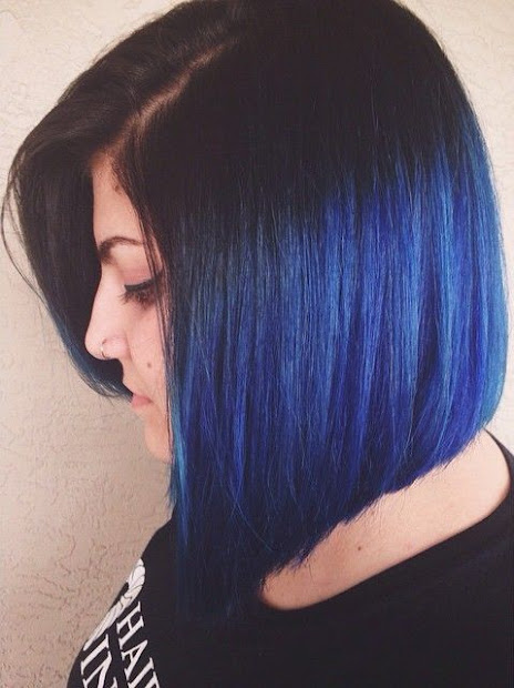 colorful bob hairstyles