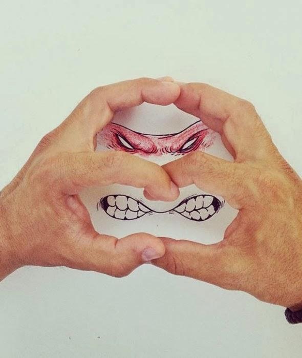 imagens criativas - desenhos -  tartarugas ninjas