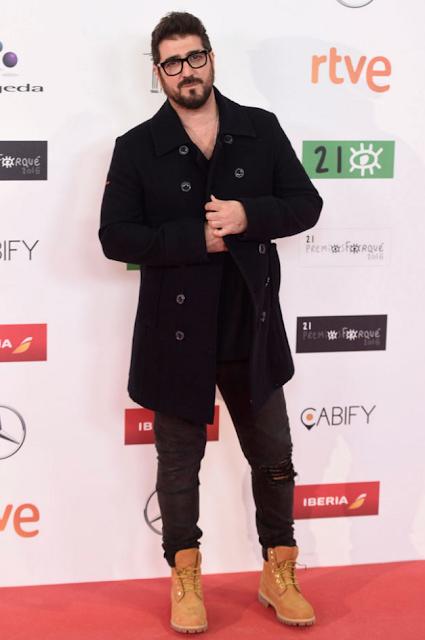 Antonio Orozco en los Premios Forqué, enero 2016