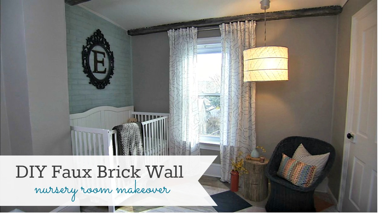 DIY Faux Brick Wall {Knock It Off DIY Project} - East Coast ...