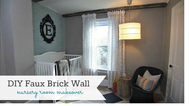 DIY Faux Brick Wall {Knock It Off DIY Project} - East Coast ...
