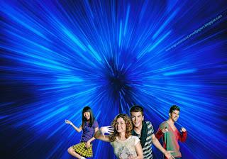 Wallpapers dos Morangos com Açucar Jovens atores a dançar o musical em fundo de tela Vórtice Azul