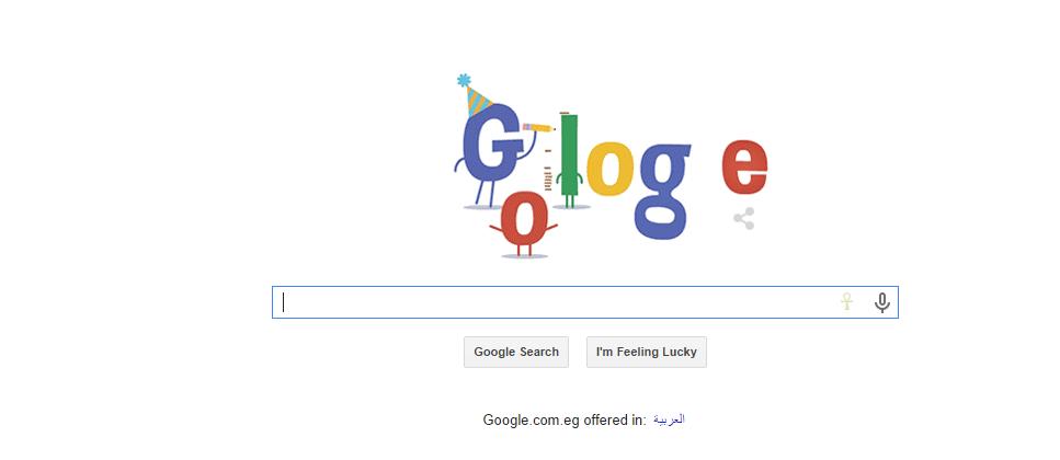 جوجل تحتفل بالعيد السادس عشر لتأسيس الشركة