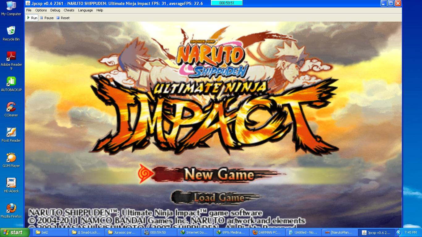 скачать игры на naruto shippuuden ultimate ninja impact на psp iso файл rar