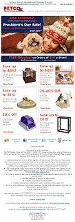 Click to view this Feb. 22, 2011 Petco email full-sized