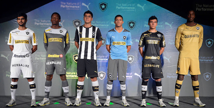 Kits were released today the new botafogo 2013 puma kits are sponsored