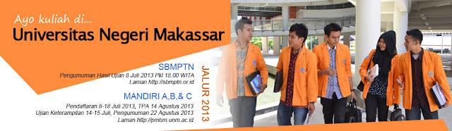 Jadwal Pendaftaran Ulang Mahasiswa Baru UNM Jalur SBMPTN 2013