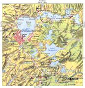 Home » Rotorua » Political Map of Rotorua New Zealand