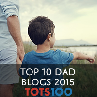 Member of Tots100 Top Ten Dad Blogs 2015