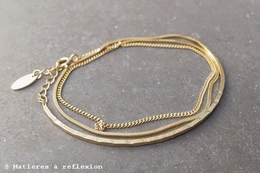 Bracelet vermeil jonc multi-chaîne Stalactite Paris bijoux