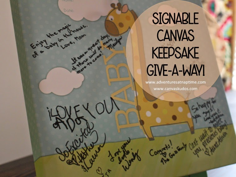 Canvas Kudos Signable Canvas Keepsake GIVEAWAY