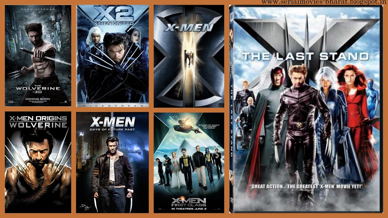 movies series: x-men movies series