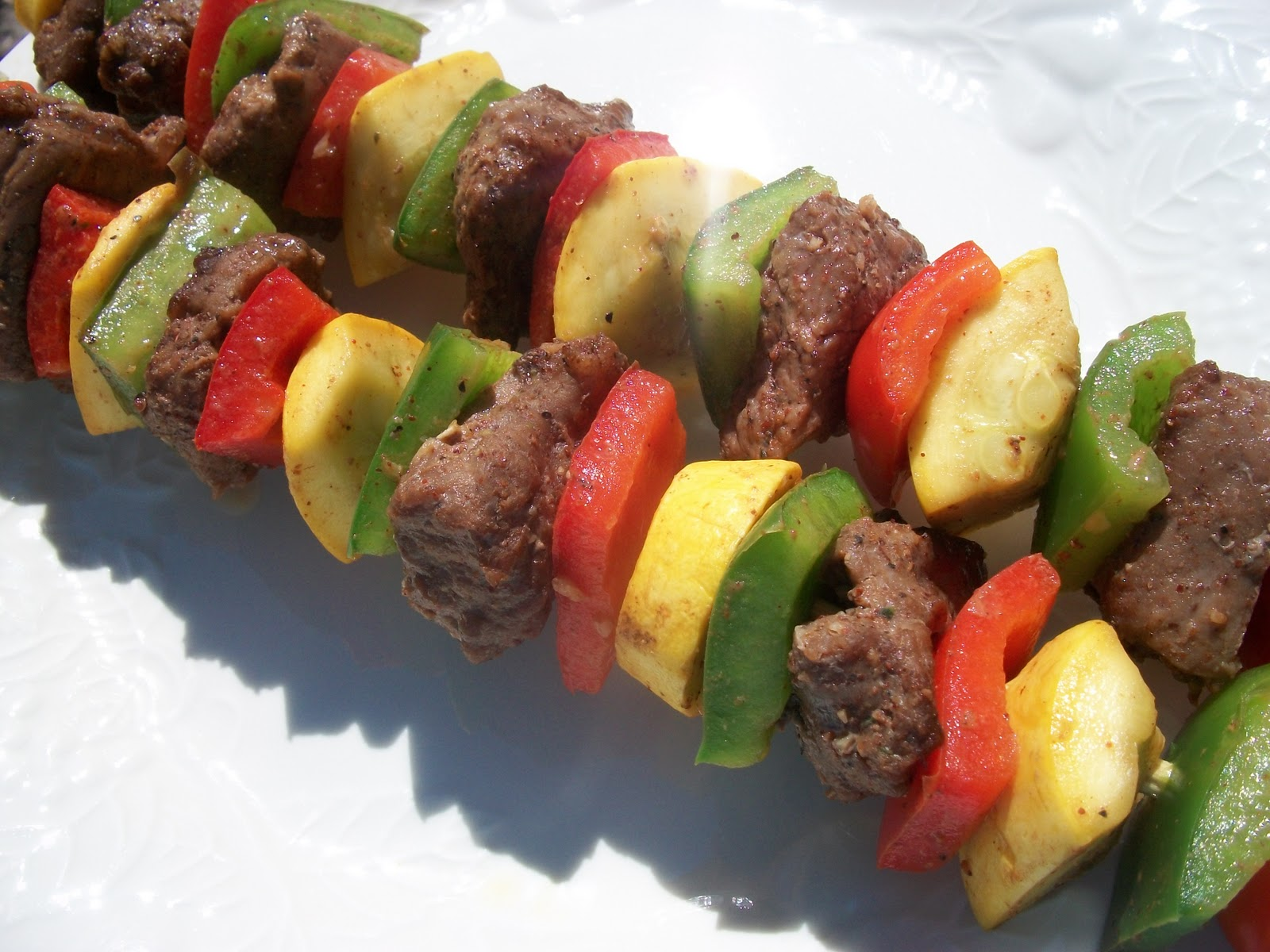 Spicy Beef and Vegetable Kabobs | Sandy\'s Kitchen
