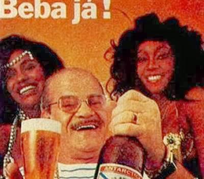 Propaganda do Sargentelli com suas mulatas para a Cerveja Antártica, em 1984