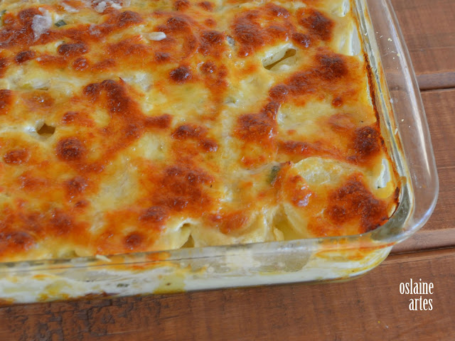 Batatas Gratinadas com Bacalhau