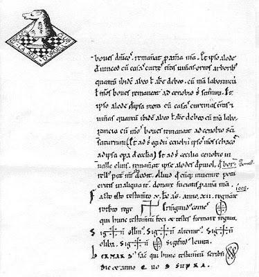 Fragmento del testamento de Ermengol I, conde de Urgel