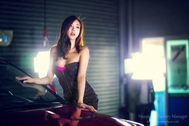 1 Kim Ha Yul - Sexy Mechanic  - very cute asian girl - girlcute4u.blogspot.com