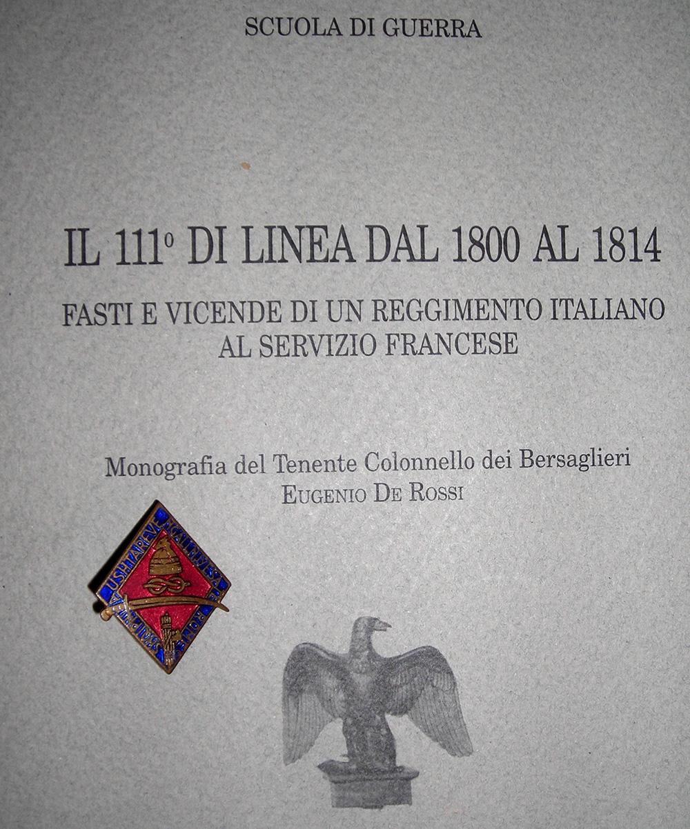 Distintivo fronte albanese greco e 111 di linea dal 1800 al 1814