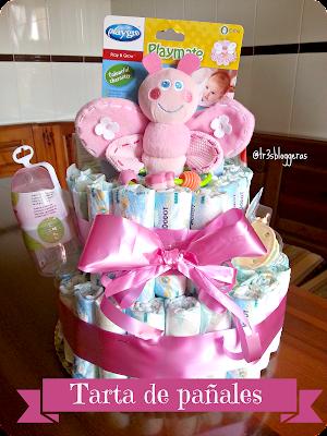 Tarta de pañales regalo para recién nacido