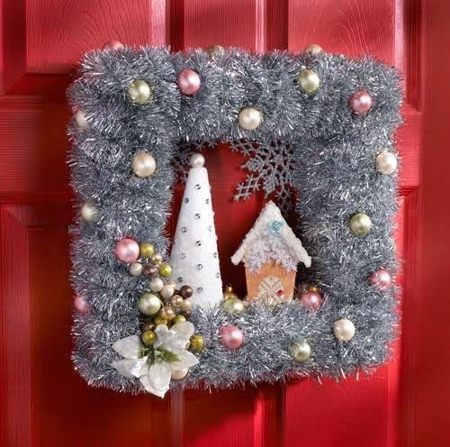 corona para puertas en navidad