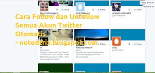 Cara Follow & Unfollow Semua Akun Twitter